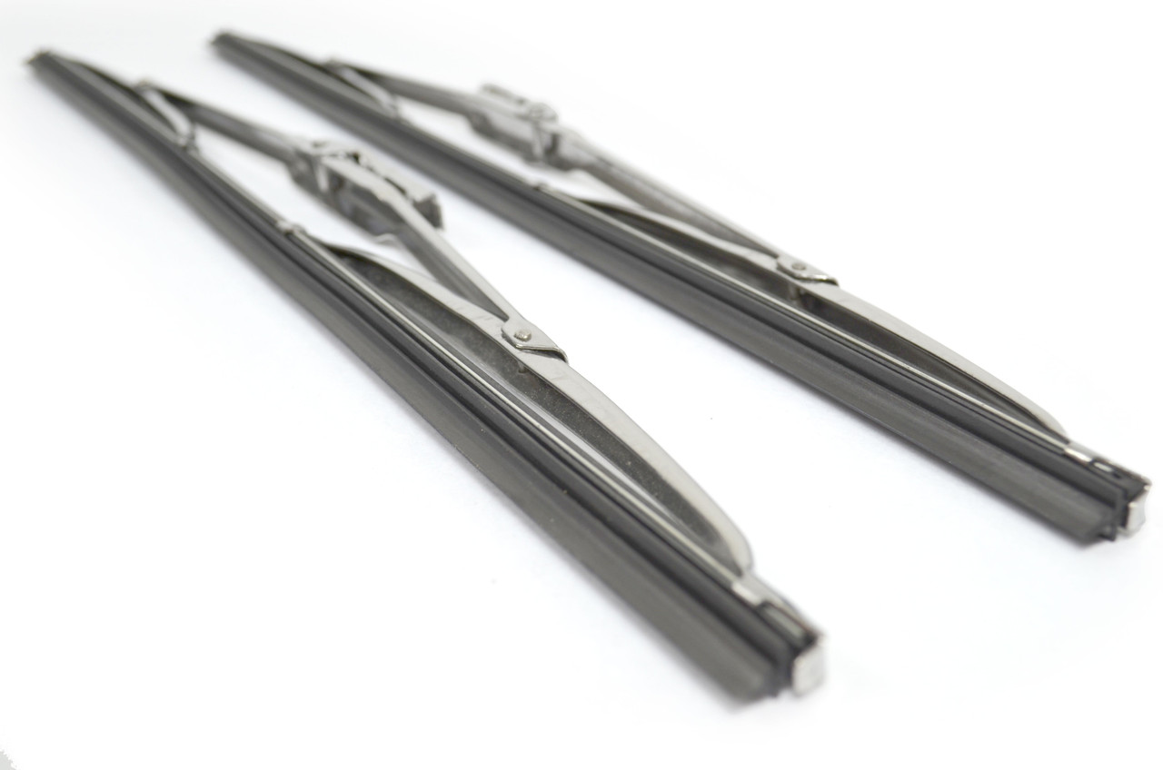 Stainless Steel 15 Inch Wiper Blade Set - 1979-85