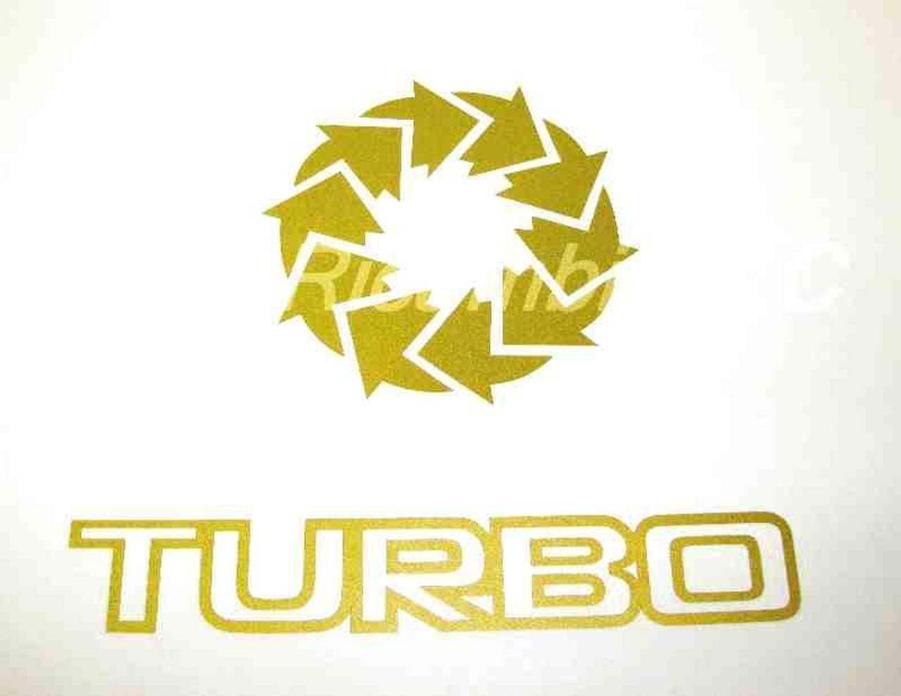 Turbo Decal Gold  - 1981-82