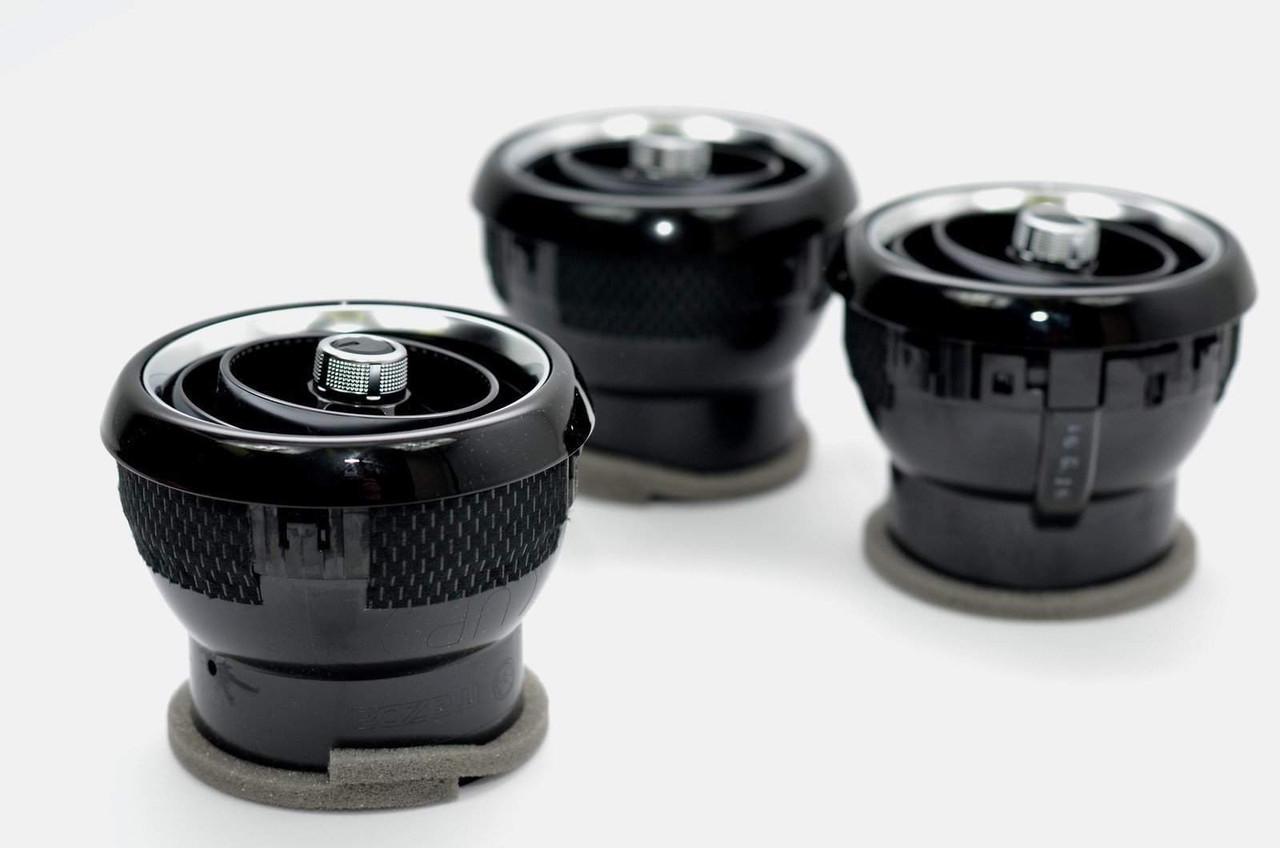 2017-on  124 Spider Dash Vent Surround Kit - Black
