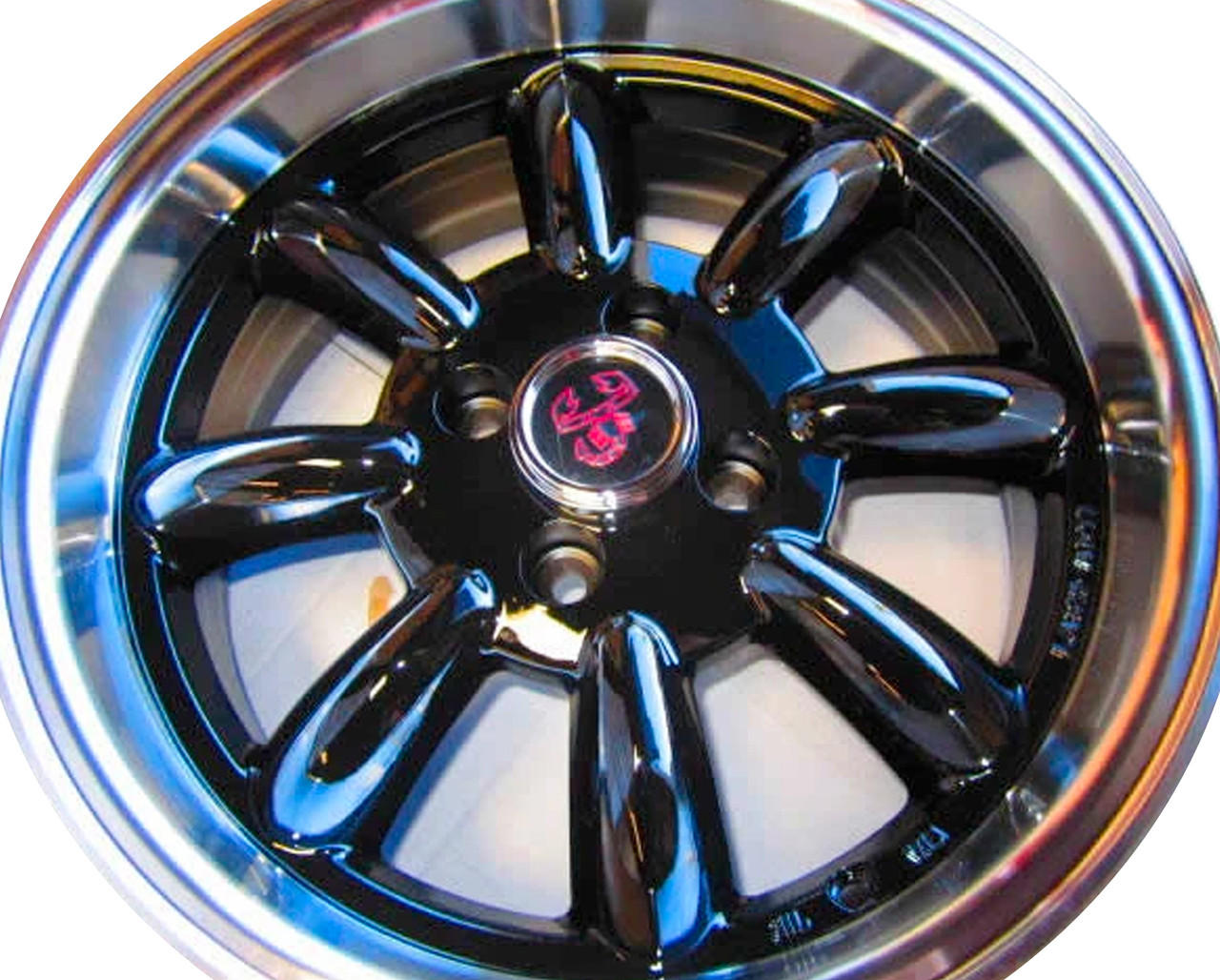 """Monza wheels 15"""" x 6.5"""", 15mm offset in silver - Auto Ricambi Gloss Black"""