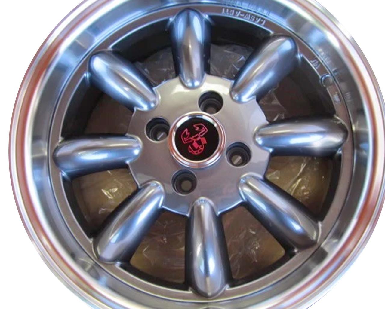 "Monza wheels 15"" x 6.5"", 15mm offset in silver - Auto Ricambi Gunmetal"