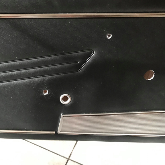 Easy Cut Holes for Door Panels - Classic FIAT 124 Spider