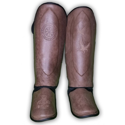 Viking Essentials: Raw Hide Shin Guards