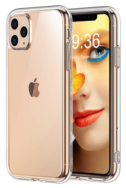 """Crystal Clear Soft TPU Gel Case for iPhone 11 Pro Max (6.5"""")"""