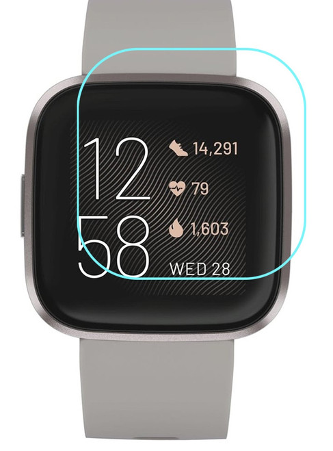 3x Premium Ultra Clear Screen Protector Film for Fitbit Versa 2