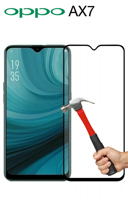 OPPO AX7 Full Coverage Tempered Glass