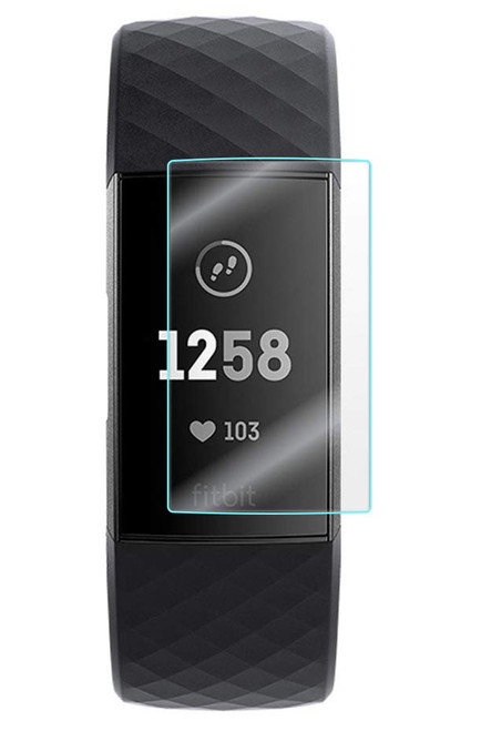 3x Premium Ultra Clear Screen Protector Film for Fitbit Charge 3