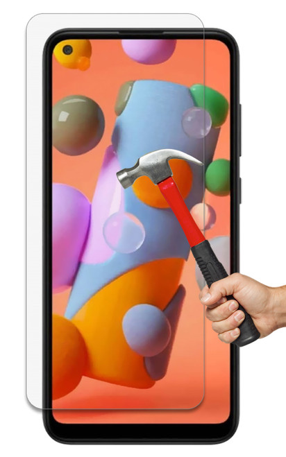 2x Galaxy A11 Premium 9H HD Tempered Glass Screen Protectors
