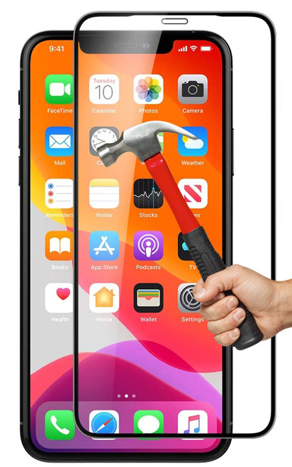 """2x iPhone XR (6.1"""") Premium Full Cover 9H Tempered Glass Screen Protectors"""