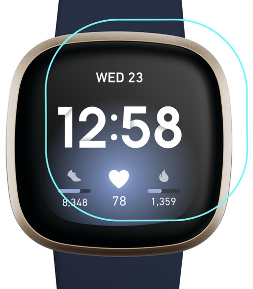 3x Premium Ultra Clear Screen Protector Film for Fitbit Versa 3