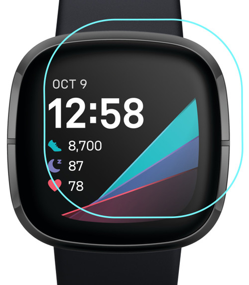 3x Premium Ultra Clear Screen Protector Film for Fitbit Sense