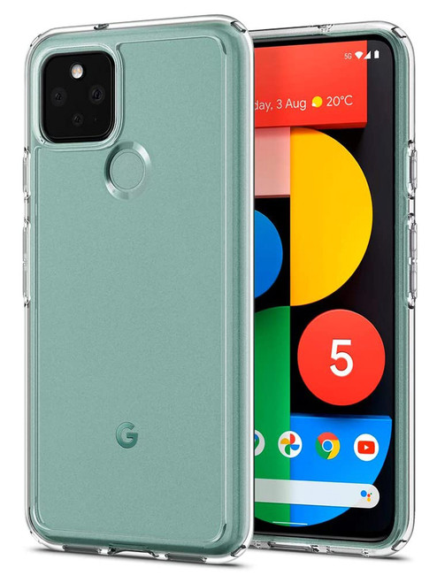 "Google Pixel 5 (6.0"") Crystal Clear Premium Soft Gel Back Case"