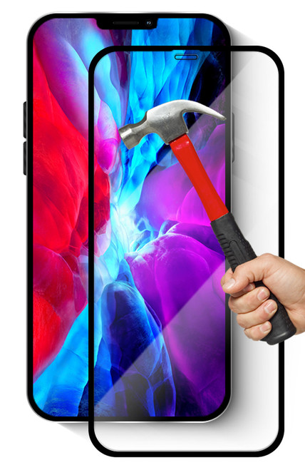 """2x iPhone 12 Pro Max (6.7"""") Premium Full Cover 9H Tempered Glass Screen Protectors"""