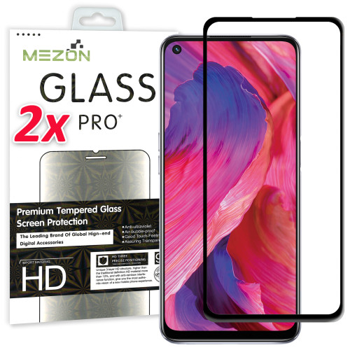 2x OPPO A74 5G Premium Full Cover 9H Tempered Glass Screen Protectors