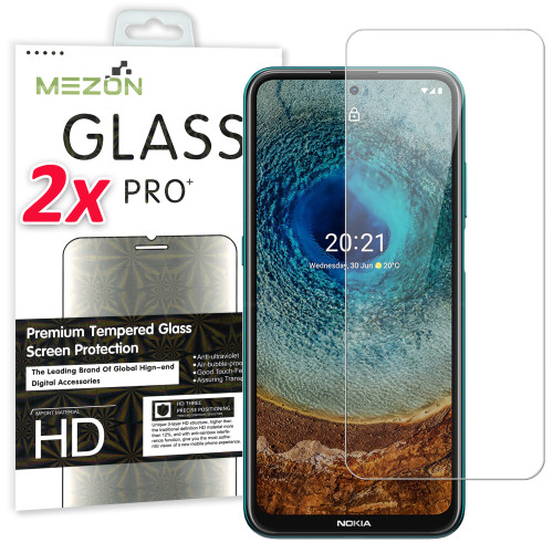 2x Premium 9H Tempered Glass Screen Protectors for Nokia X20