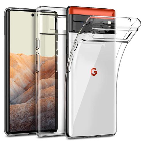 """Google Pixel 6 (6.4"""") Crystal Clear Premium Soft Gel Back Case"""