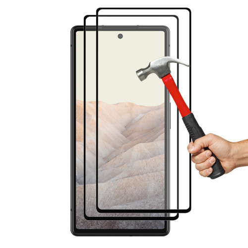 "2x Google Pixel 6 (6.4"") Premium Full Cover 9H Tempered Glass Screen Protectors"