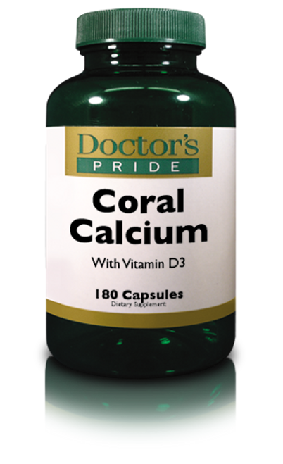 Natural Coral Calcium with Viamin D (180 Capsules) (A8903D)
