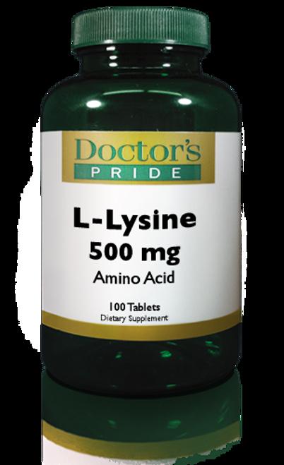 L-Lysine 500 MG 100 Caplets