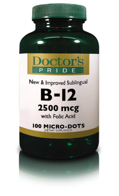 B-12 2500 MCG Sublingual Lozenges (100 Lozenges) (3861D)