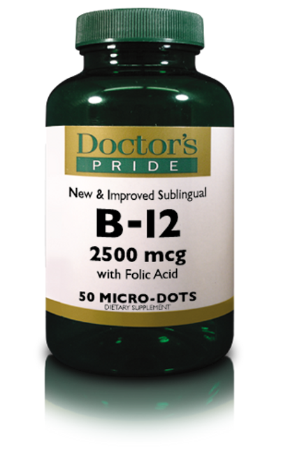 B-12 2500 MCG Sublingual Lozenges (50 Lozenges)