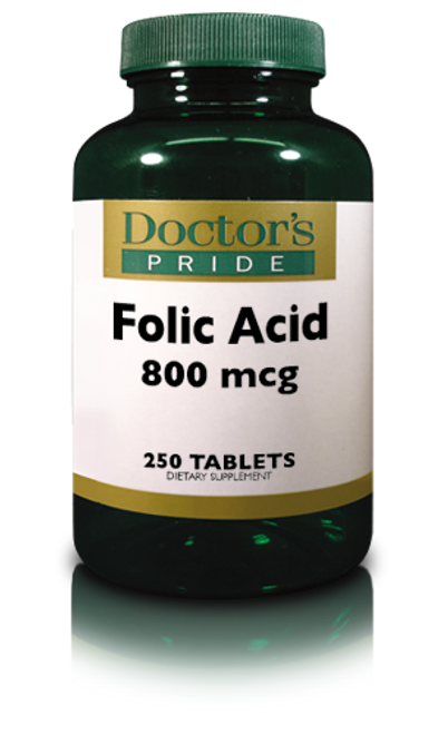 FOLIC ACID TABLETS 800 MCG. (2843D)