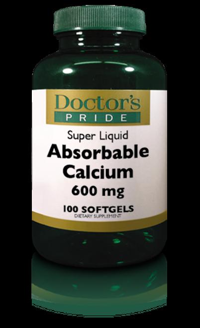 Absorbable Calcium 600 MG Softgels Plus Vitamin D 500 IU (AB0040D)