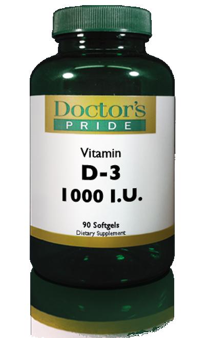 Vitamin D-3 (Cholecalciferol) 1000 IU Softgels (AB1000D)