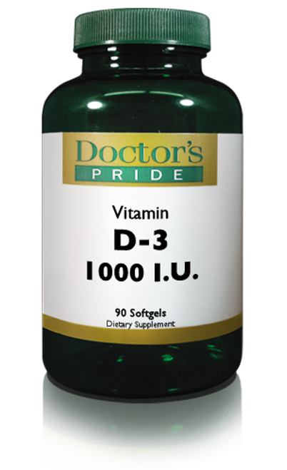 Vitamin D-3 (Cholecalciferol) 1000 IU Softgels (AB1000D)