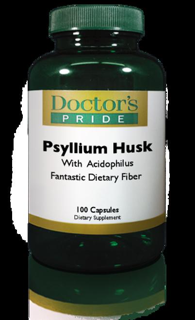PSYLLIUM HUSK CAPSULES 850 MG With Acidophilus. (9720D)