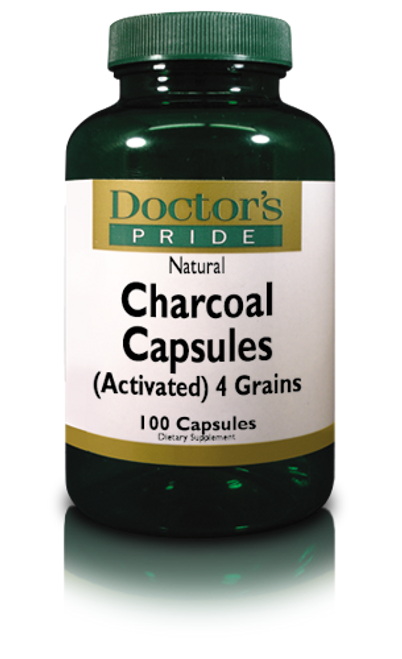 CHARCOAL CAPSULES 260 MG (Activated). (3680D)
