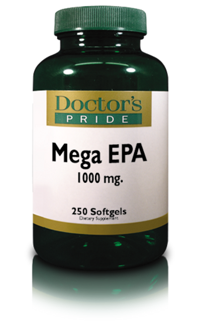 Fish Oil 1X (Single Potency) Mega EPA 1000 - 250 Softgels (3835D)