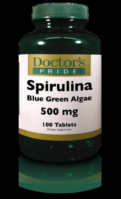 SPIRULINA BLUE GREEN ALGAE 500 MG TABLETS. (AB7220D)