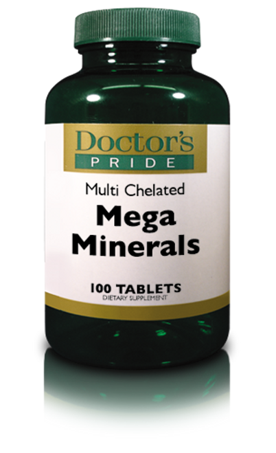 Multi-Mega Chelated Minerals - 100 Tablets (6790D)