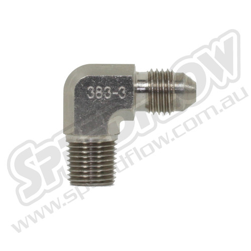 AN Flare to NPT Steel 90° Adapters From: