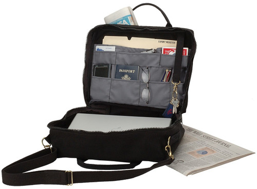 SHIP TO SHORE BRIEFCASE WITH DETACHABLE SHOULDER STRAP