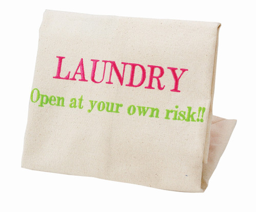 """SMALL LAUNDRY BAG - """"Open at your Own Risk"""""""