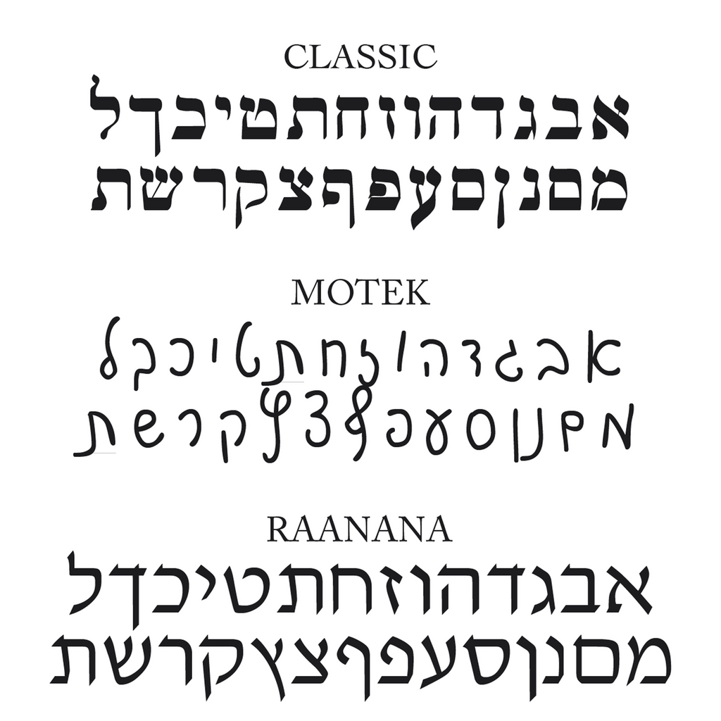 Hebrew font options