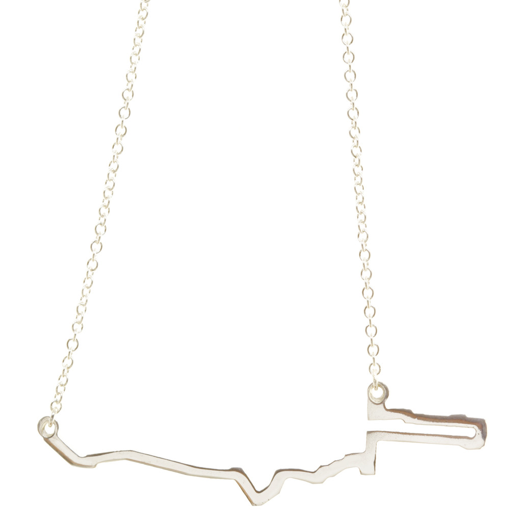 New York City Marathon course necklace.