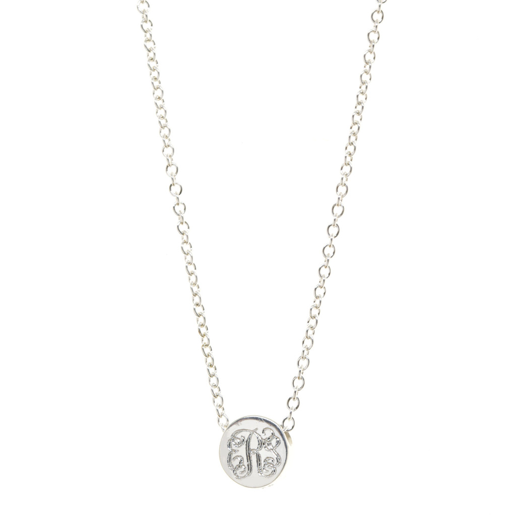 Monogram Bead Necklace. Vine monogram font.