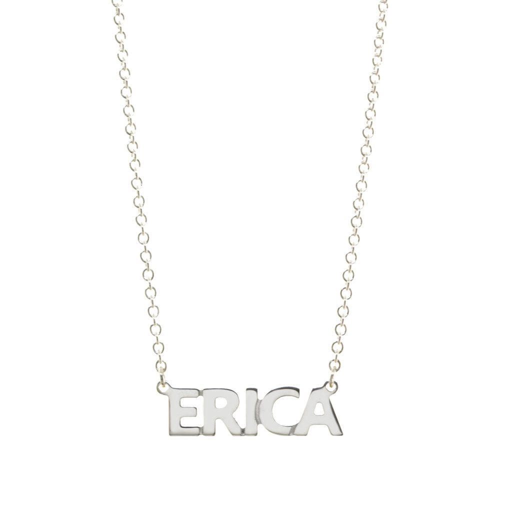 Handcrafted Sterling Silver Nameplate Necklace