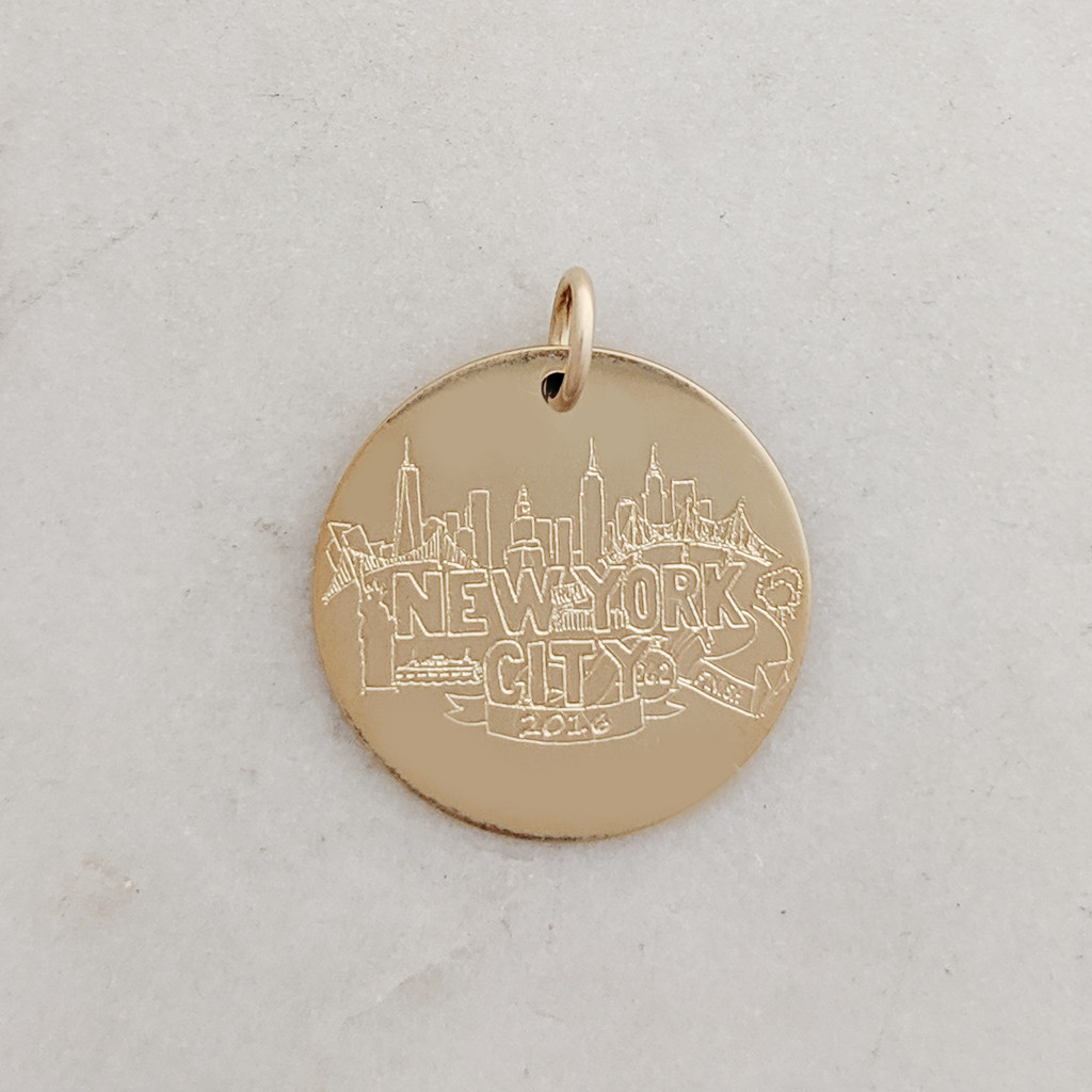 NYCM 2016 Gold Fill Charm