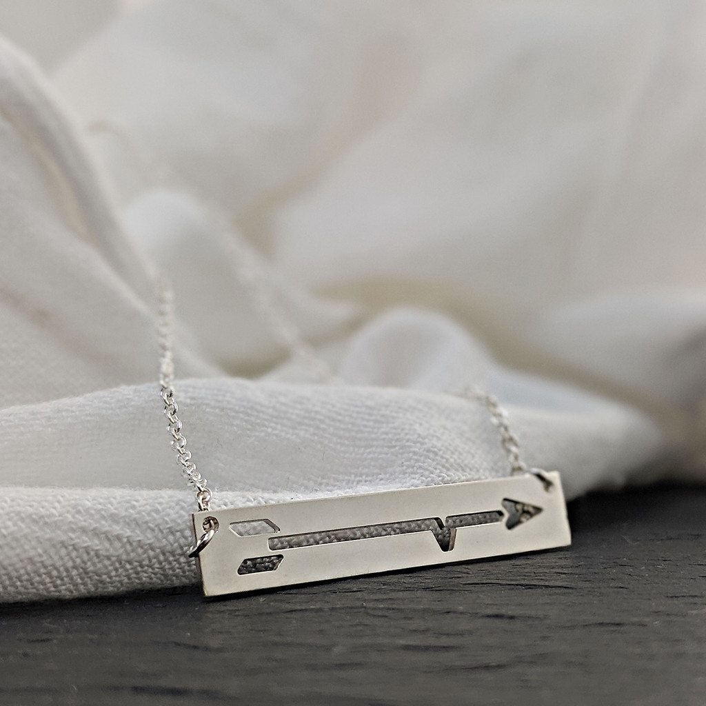 BRAVE Like Gabe ID necklace. Sterling silver on sterling chain.