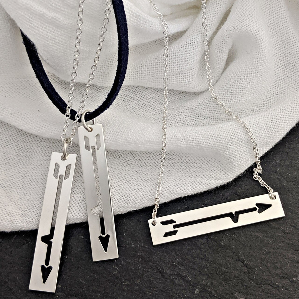 BRAVE Like Gabe hand crafted sterling silver necklaces and bracelet.