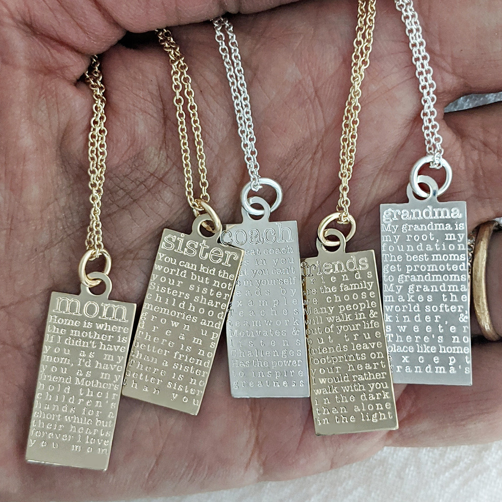 Engraved defined tags.
