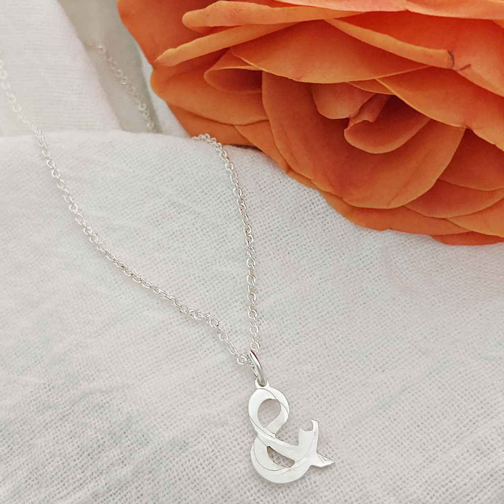 &Mother sterling silver handcrafted necklace.