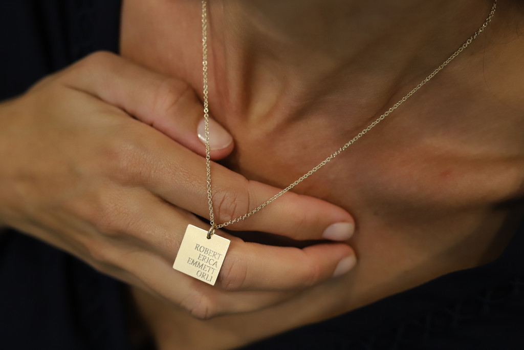 Family Square Charm/Necklace