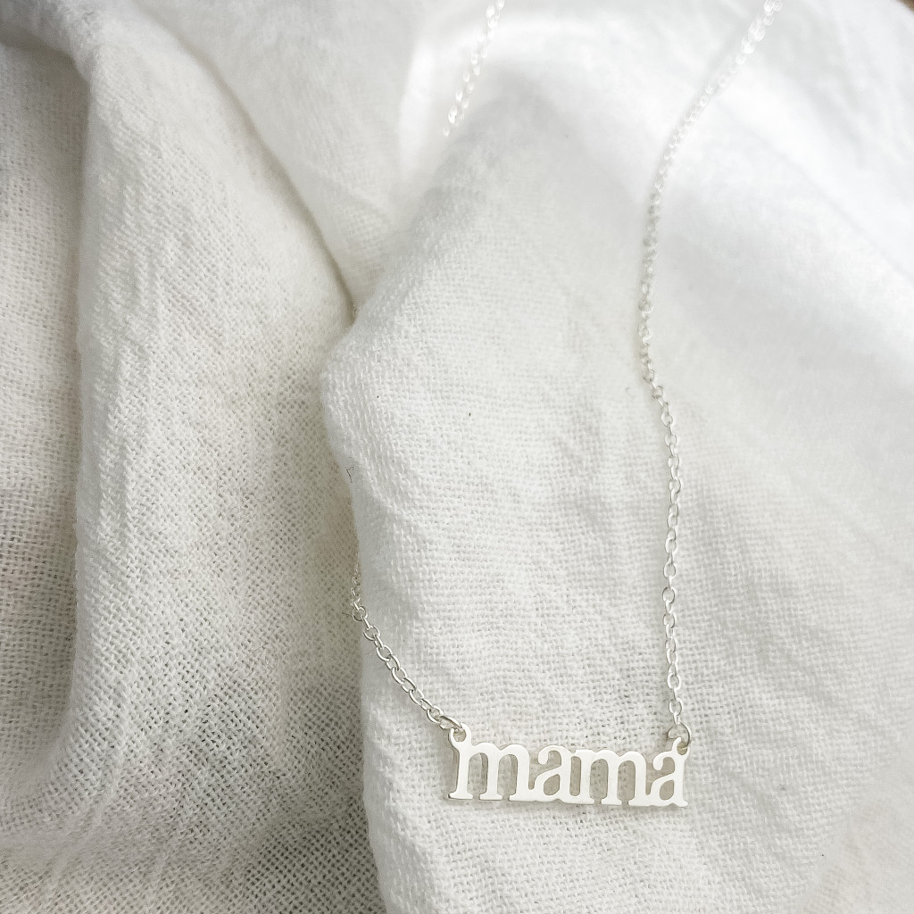 Mama necklace. Sterling silver. Handcrafted.