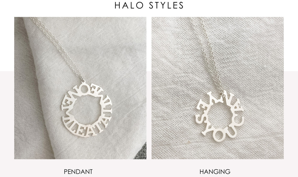 Halo Personalized Necklace
