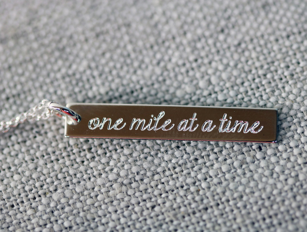 One Mile at a Time Charm/Necklace
